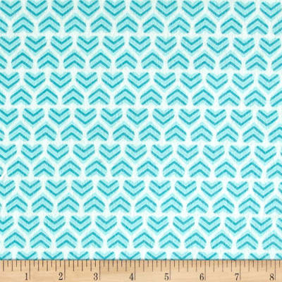 Moda Hugaboo Flannel In My Heart Airplane Aqua