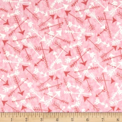 Moda Hugaboo Flannel Tossed Arrows Twirly Pink