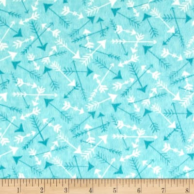 Moda Hugaboo Flannel Tossed Arrows Airplane Aqua