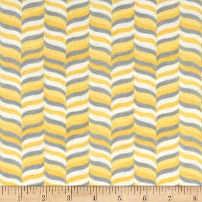Moda Hugaboo Flannel Wavy Herringbone Sunshine Yellow