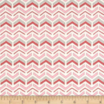 Moda Hugaboo Flannel Which Way Twirly Pink