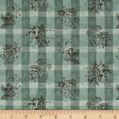 Moda Collections For A Cause Nurture Plaid Floral Aqua