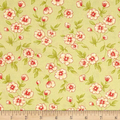 Moda Farmhouse Gingham Blooms Meadow