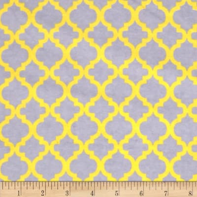Flannelland Bella Grey/Yellow