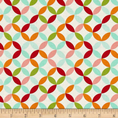 Moda Hello Darling Orange Peel Multi - Orange