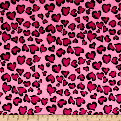Minky Heart of Beast Pink