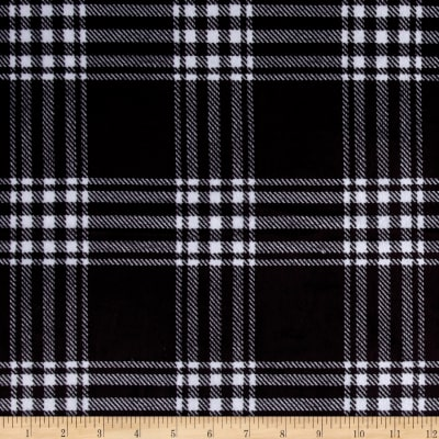 Minky Treas Plaid Black