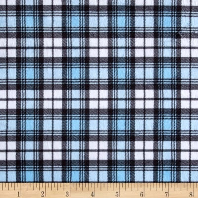 Minky Swatch Plaid Blue