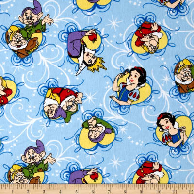 Disney Snow White Flannel Frames Characters Blue