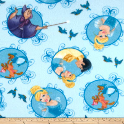 Disney Cinderella Fleece Cinderella Badge Blue