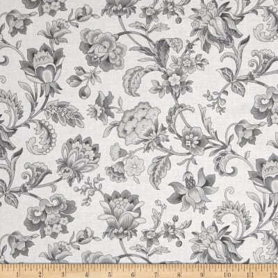 Gracious Skies Jacoban Floral White/Grey