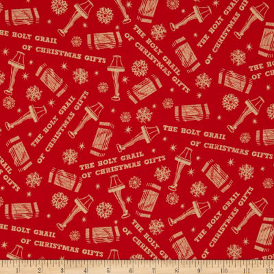 A Christmas Story Tossed Icons Red