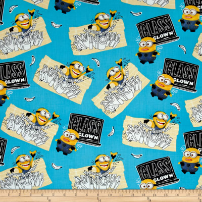 QT Fabrics Despicable Me Minions Class Clown Blue