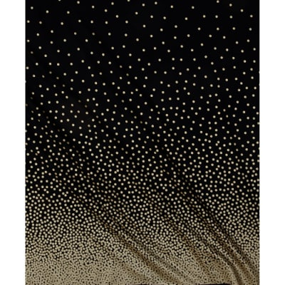 Michael Miller Glitz Metallic Confetti Border Pearlized Black/Bronze