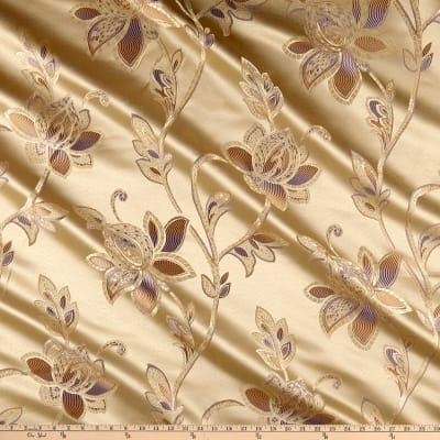 Eroica Glamour Chenille Jacquard Floral Orchid