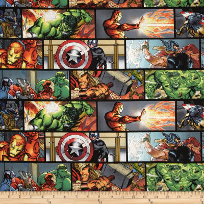 Marvel Avengers Assemble/Retro Horizontal Comic Patch Multi
