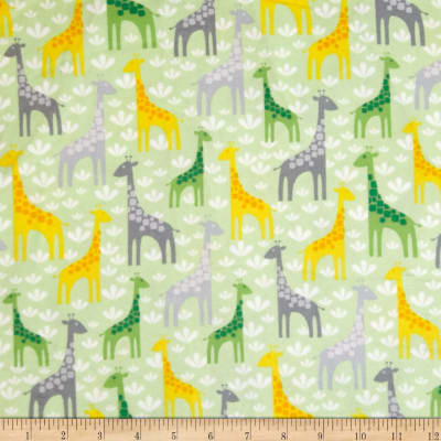 Kaufman Wild Bunch Flannel Giraffes Nature