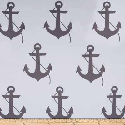 RCA Blackout Drapery Fabric Anchors Grey