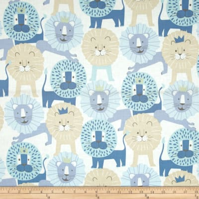 Alexander Henry Monkey's Bizness Little Lion Baby Blue