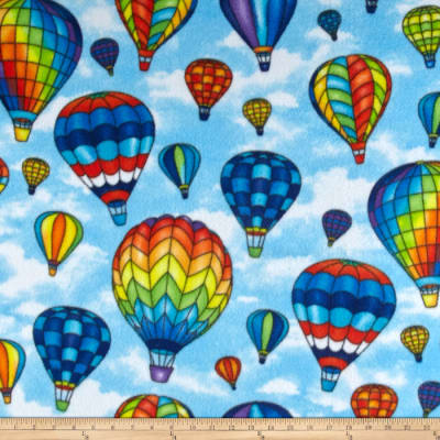 Winterfleece Hot Air Ballons Blue
