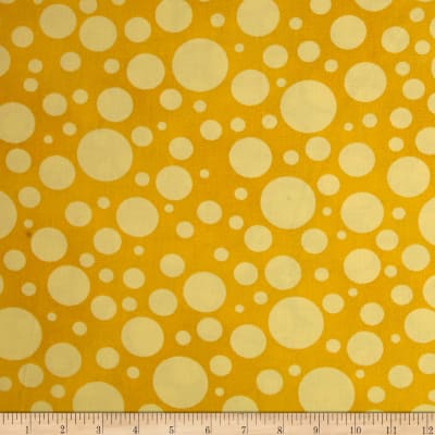 """110"""" Wide Quilt Back Bubbles Yellow"""