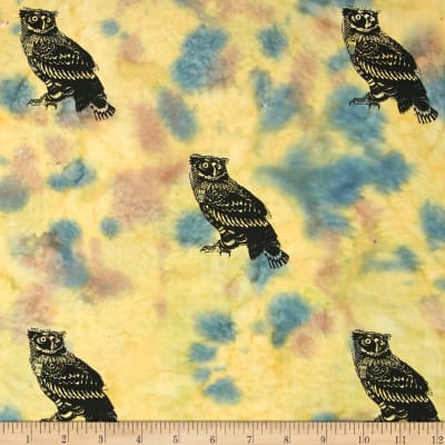Indian Batik Animal Planet Owl Natural