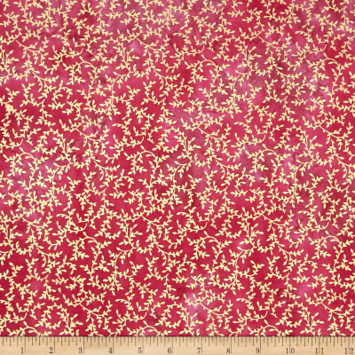 Indian Batik Montego Bay Vine Metallic Pink