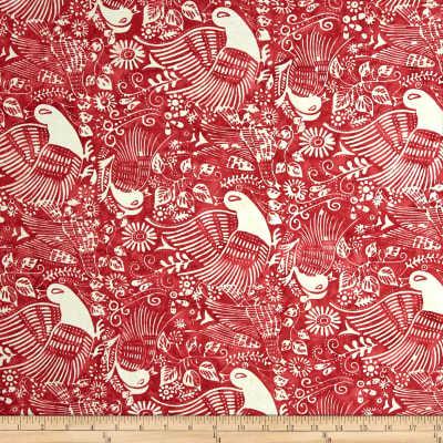 Bali Batiks Handpaints Ethnic Bird Burgundy