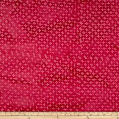 Indian Batik Hollow Ridge Dots Pink