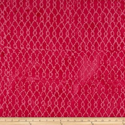 Indian Batik Hollow Ridge Grid Pink