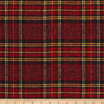 Vancouver Flannel Plaid Red/Black