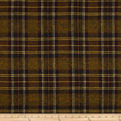 Vancouver Flannel Plaid Gold/Brown