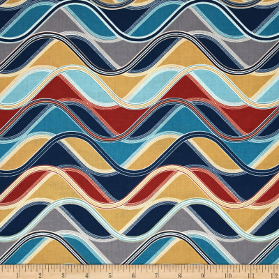 Kaufman Vantage Point Wavy Stripe Multi