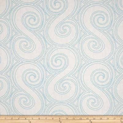"""Kaufman 108"""" Wide Quilt Back Drawn Wide Large Scroll Lagoon"""