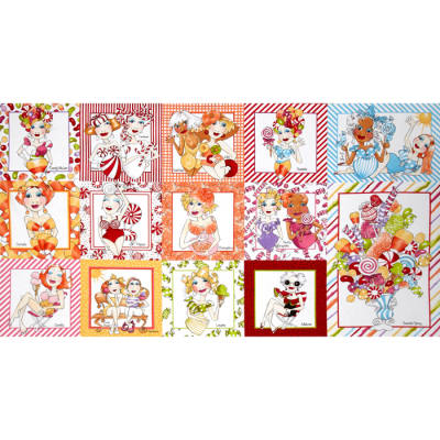 Loralie Sweetie Sweetie Picture Patches 24 In. Panel Multi