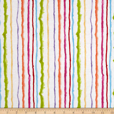 Loralie Sweetie Candy Stripe White