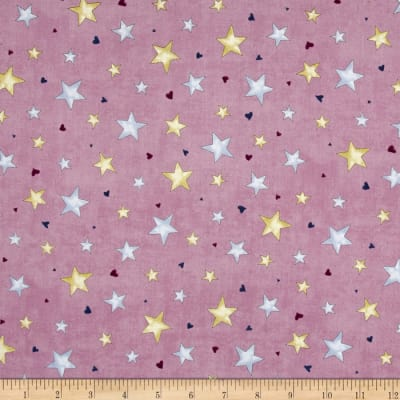 Rainbow Dreams Stars Dark Purple