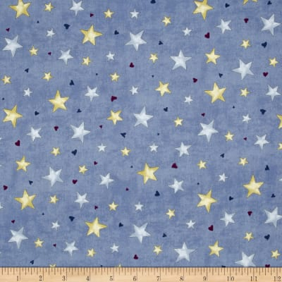 Rainbow Dreams Stars Blue