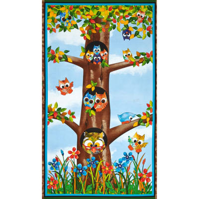 Owl In The Family Owl Family Panel Multi