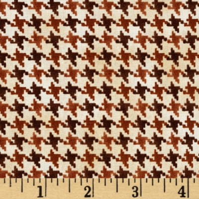 QT Fabrics Nature's Glory Houndstooth Brown