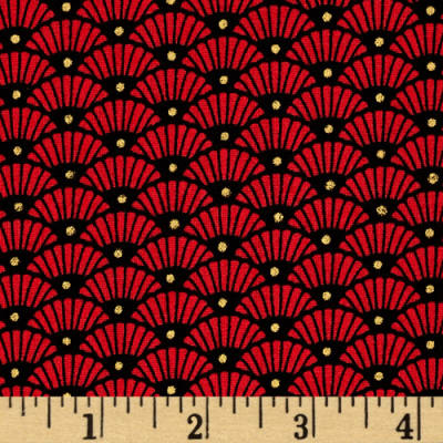 Yoriko Dependable Fan Geo Red