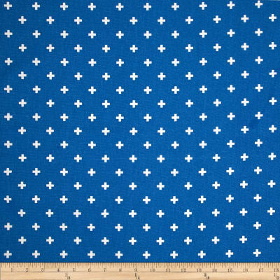 Premier Prints Mini Swiss Cross Cobalt