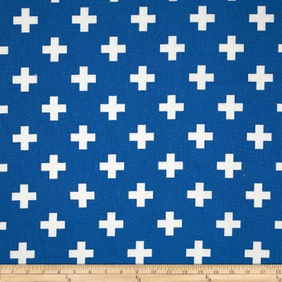Premier Prints Swiss Cross Cobalt