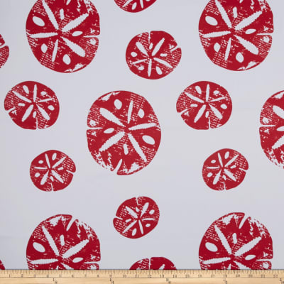 RCA Blackout Drapery Fabric Sand Dollar Red