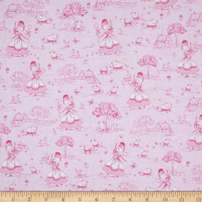 Timeless Treasures Bo Peep Pink
