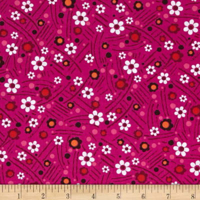 Timeless Treasures Riley Small Flower Pink