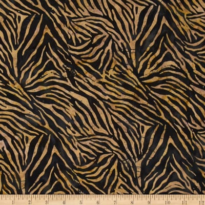 Timeless Treasures Tonga Batik Madrid Zebra Skin Tan