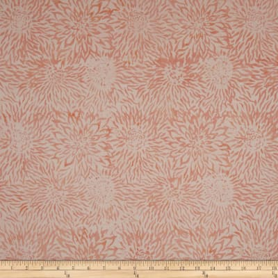 Timeless Treasures Tonga Batik Bouquet Dahlias Coral