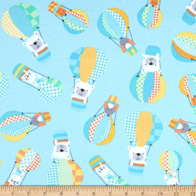 Kanvas Breezy Baby Flannel Up Up & Away Aqua