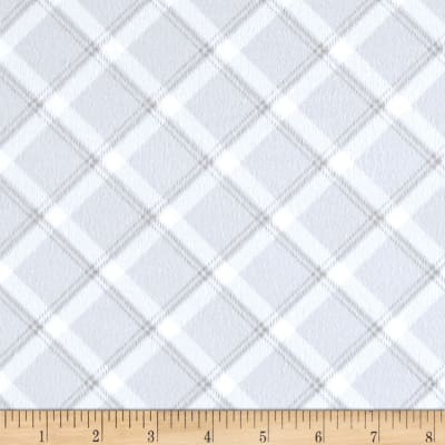 Kanvas Breezy Baby Flannel Lullaby Plaid Silver Grey